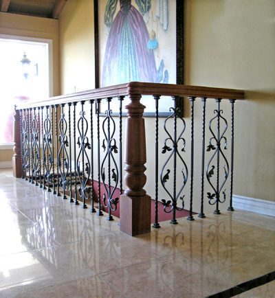 Cherry with Iron Scroll Staircase - Norman Hasenfang ...