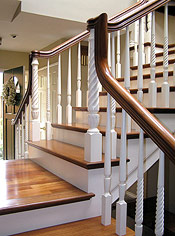 Two-tone Over the Post Staircase