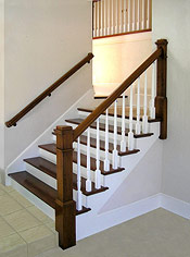 Two-tone Post to Post Staircase