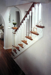 Post to Post with Ornamental Brackets Staircase